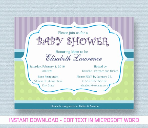 Baby Shower Flyer Template Word Inspirational Baby Shower Invitation Template 29 Free Psd Vector Eps