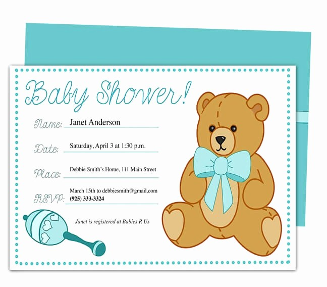 Baby Shower Flyer Template Word Lovely Baby Shower Invitation Templates for Microsoft Word