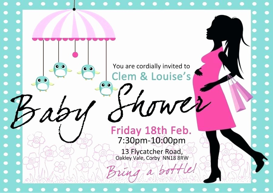 Baby Shower Flyer Template Word New Baby Shower Invitations Templates – Actonlng
