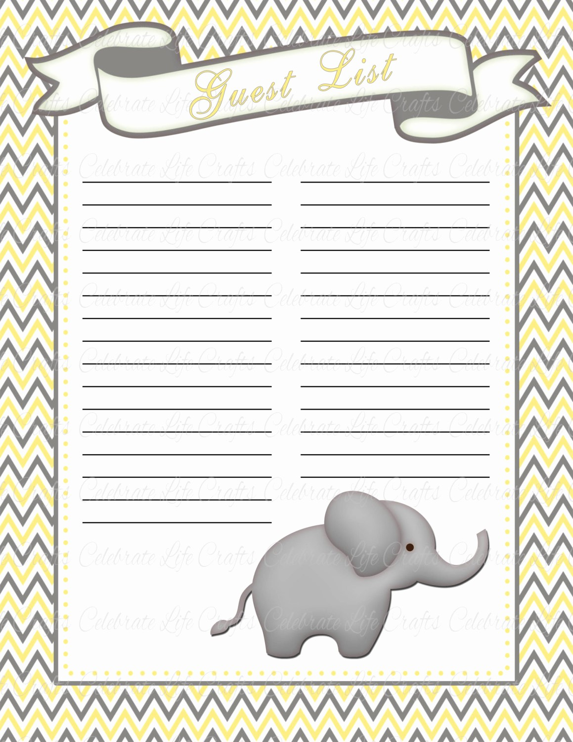 Baby Shower Guest List Printable Inspirational Baby Shower Guest List Printable Baby Shower Party