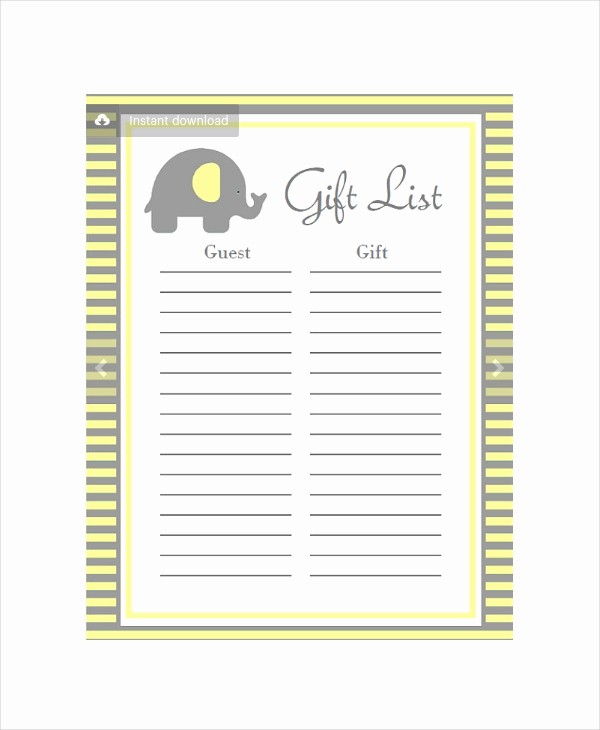 Baby Shower Guest List Printable Lovely Baby Shower Planning 5 Free Pdf Documents Download