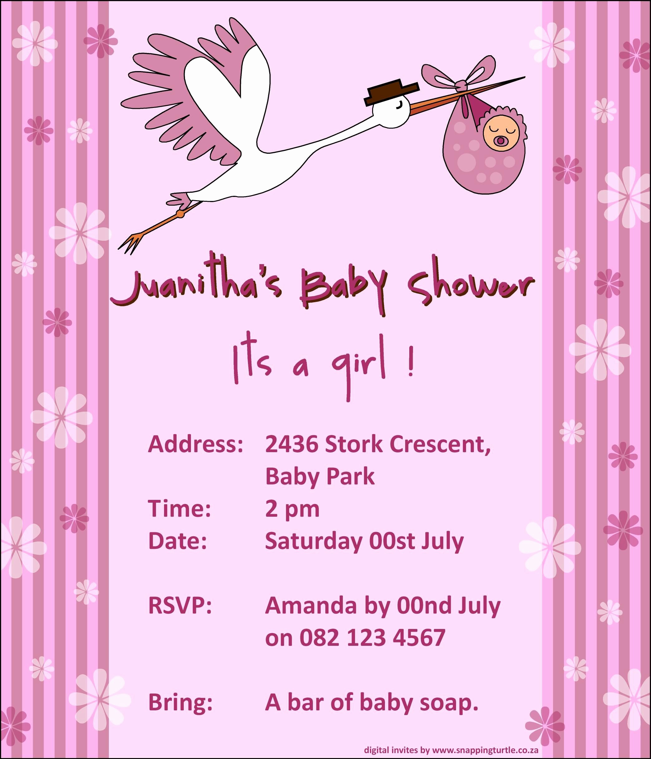 Baby Shower Invitation List Template Elegant Baby Shower Invitation Baby Shower Invitation Templates