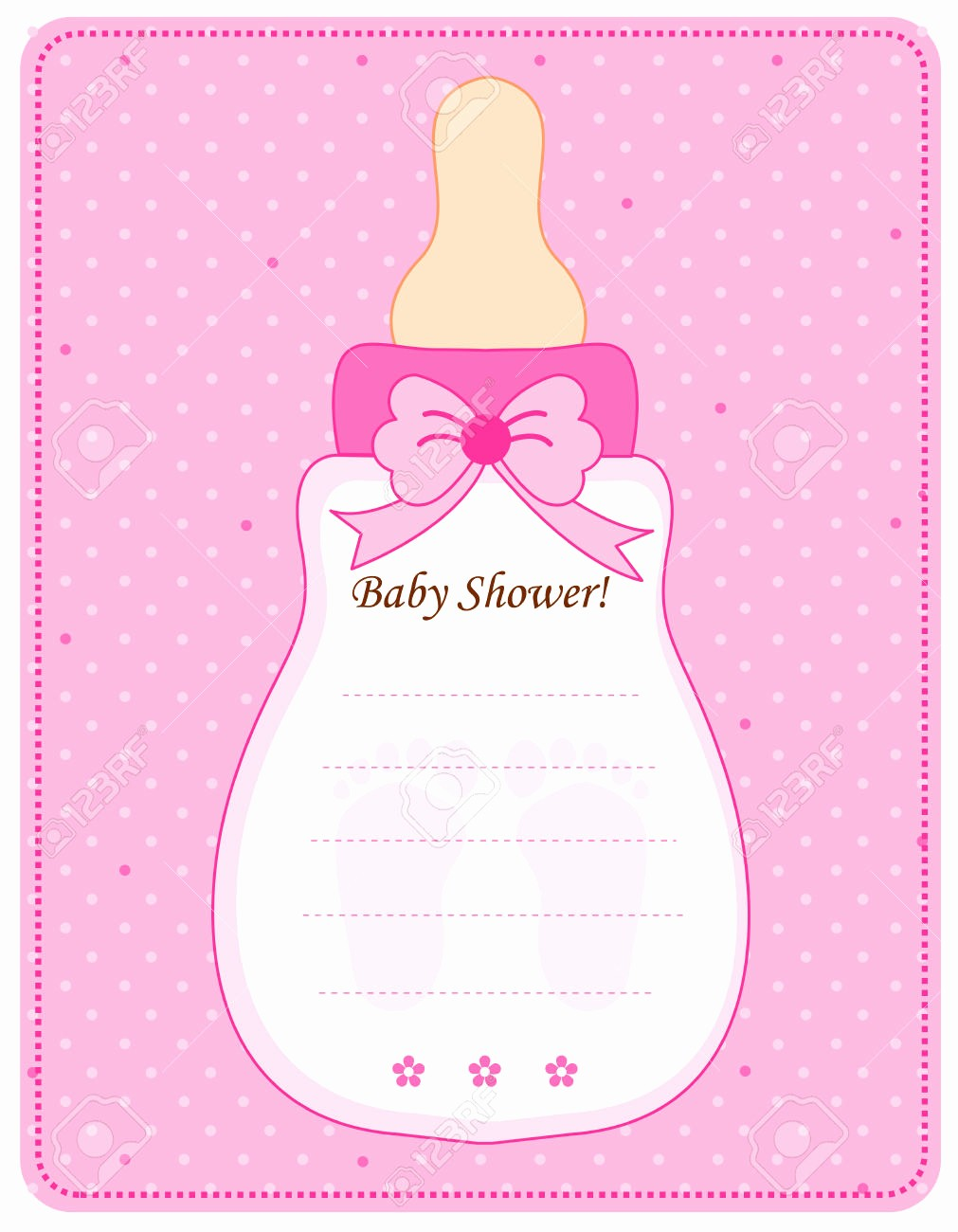 Baby Shower Invitation List Template Elegant Baby Shower Invitations for Girls Templates