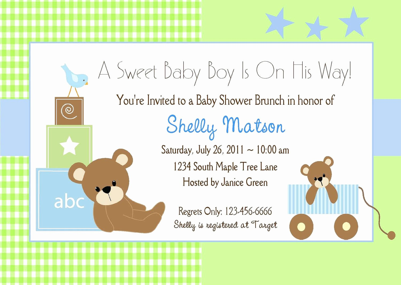 Baby Shower Invitation List Template Fresh Baby Shower Invitation Baby Shower Invitation Templates
