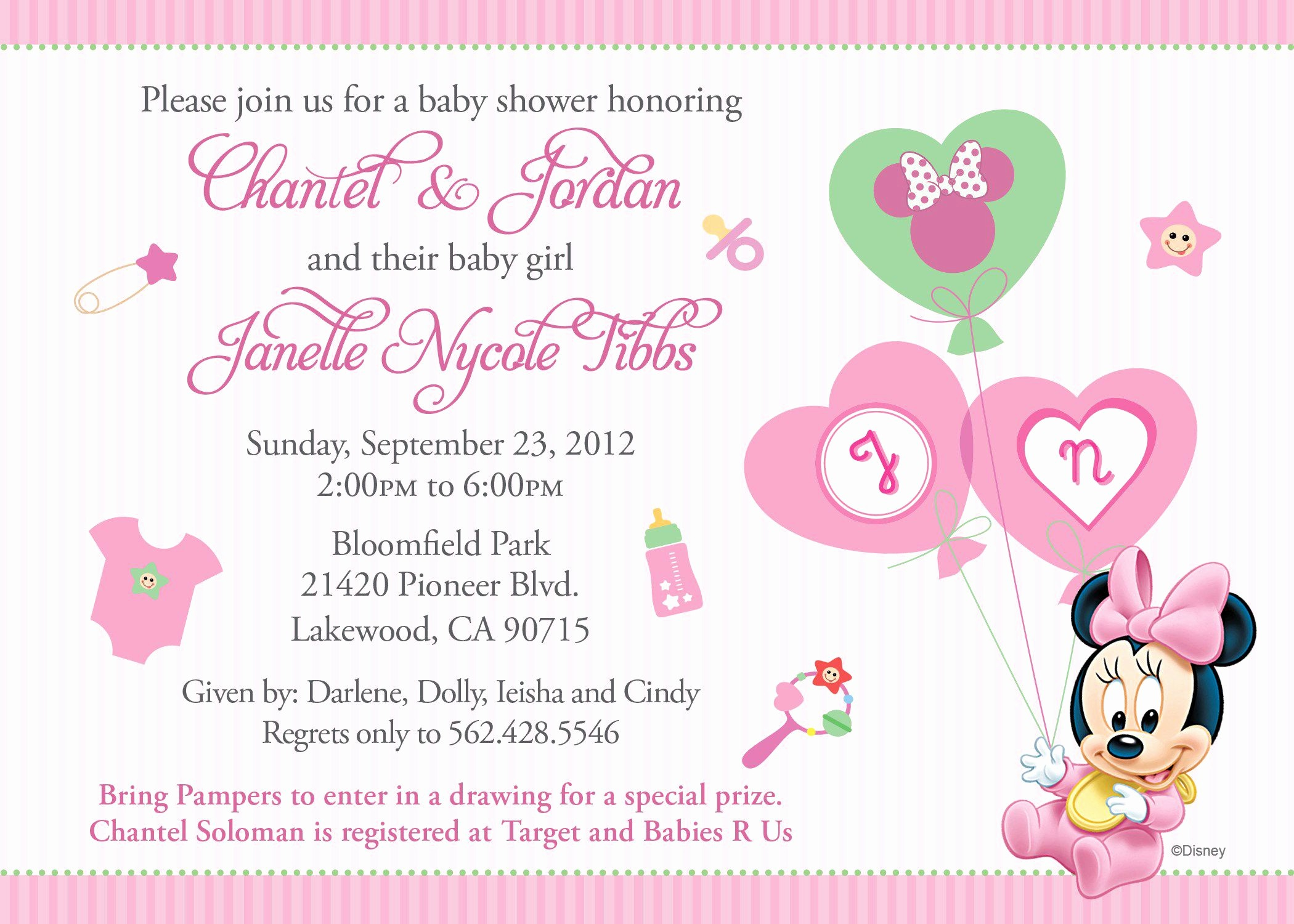 Baby Shower Invitation List Template Fresh Baby Shower Invitation Free Baby Shower Invitation