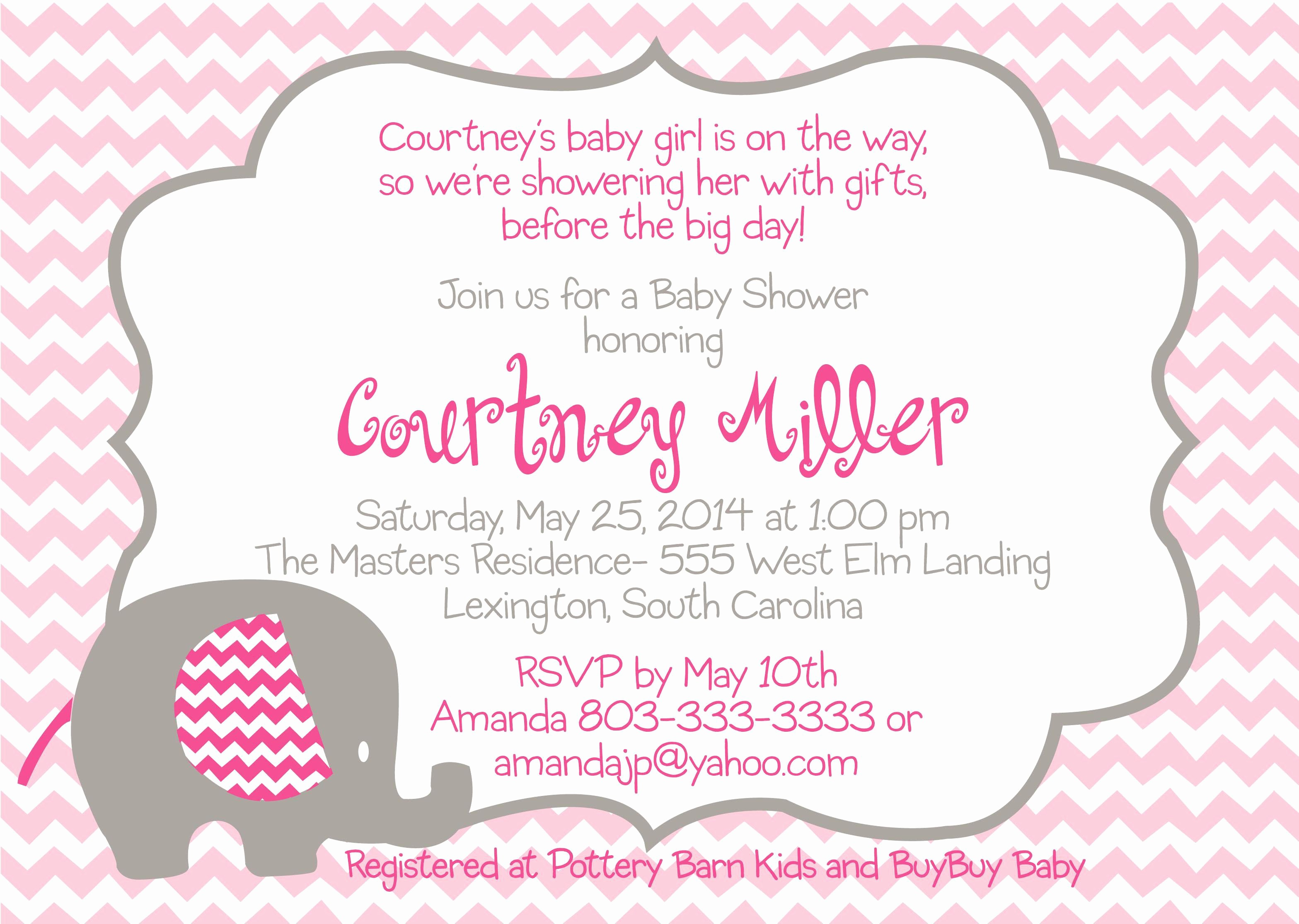 Baby Shower Invitation List Template Lovely Baby Shower Invitation Free Baby Shower Invitation