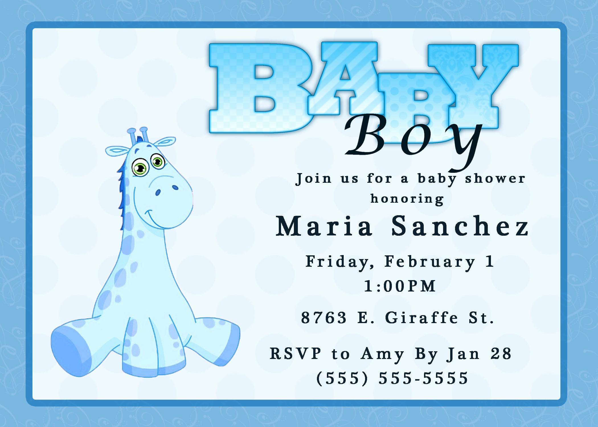 Baby Shower Invitation List Template Luxury Free Baby Boy Shower Invitations Templates Baby Boy