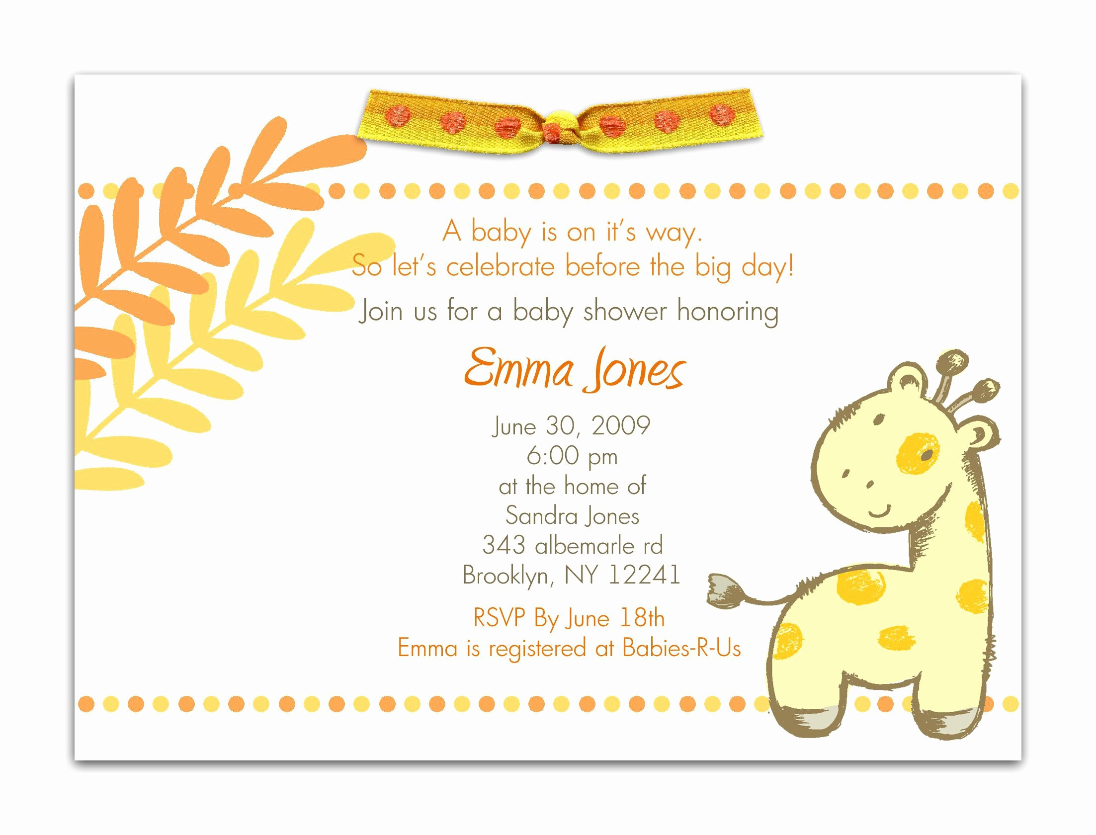 Baby Shower Invitation List Template New Baby Shower Invitation Baby Shower Invitations Templates
