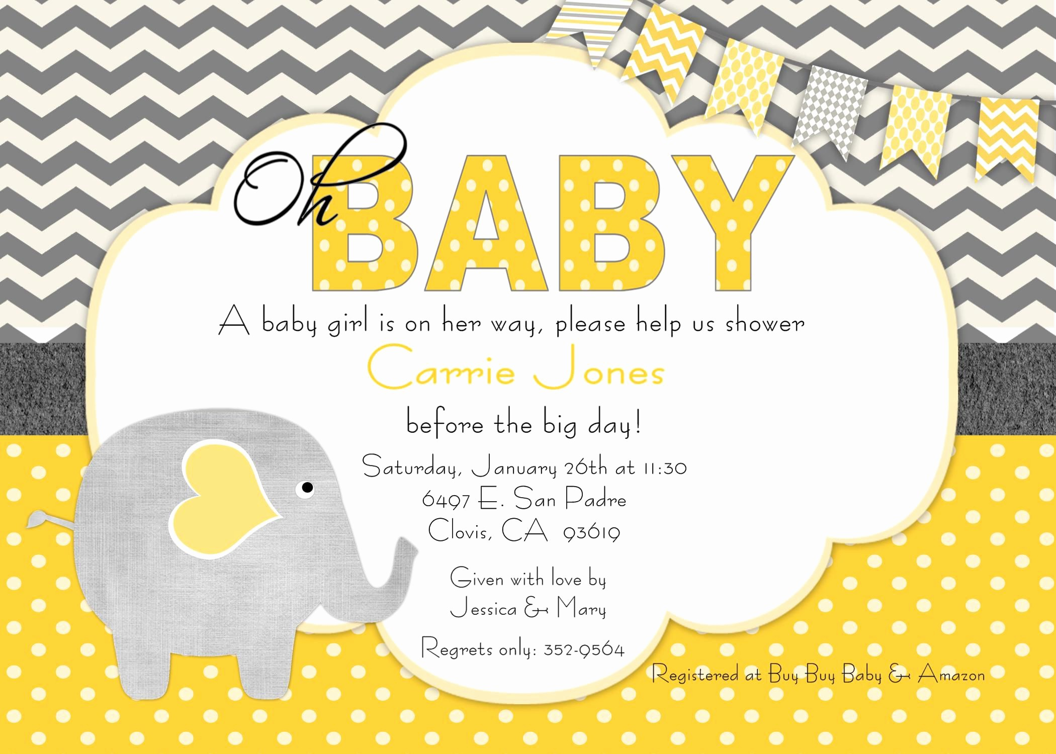 Baby Shower Invitation List Template New Baby Shower Invitation Free Baby Shower Invitation