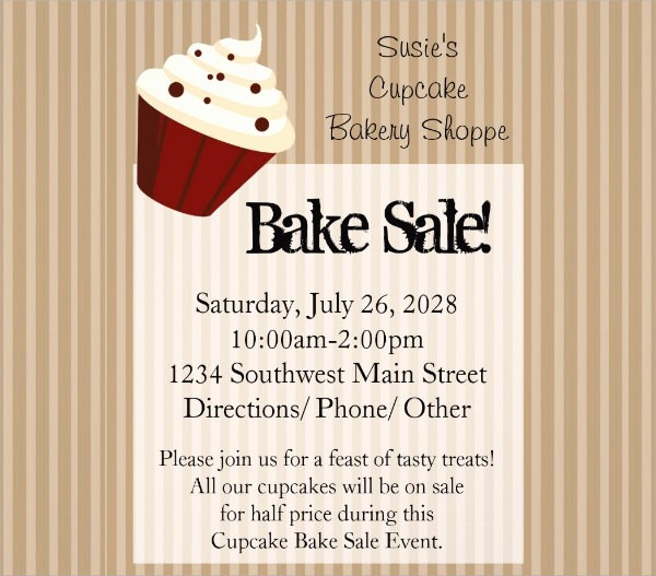 Bake Sale Flyer Template Free Awesome 17 Bake Sale Flyers