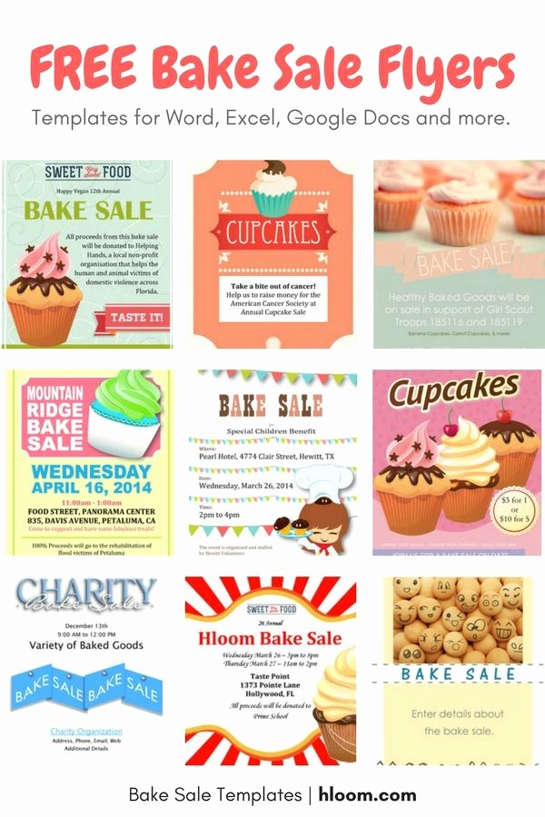 Bake Sale Flyer Template Free Awesome Cute Bake Sale Sign T