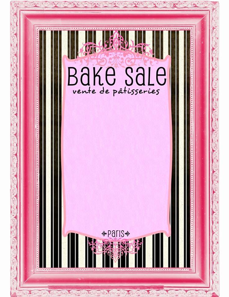 Bake Sale Flyer Template Free Beautiful 9 Best Of Bake Sale Printable Template Free