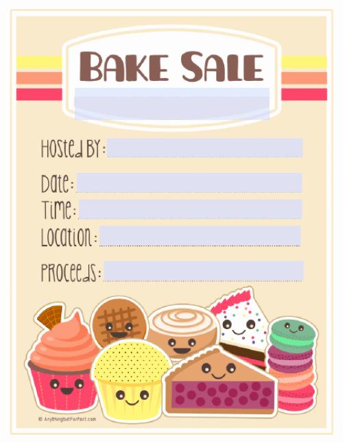 Bake Sale Flyer Template Free Beautiful Bake Sale Printable Labels Set