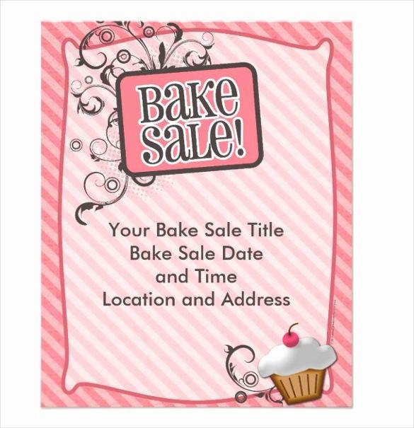 Bake Sale Flyer Template Free Elegant 34 Bake Sale Flyer Templates Free Psd Indesign Ai