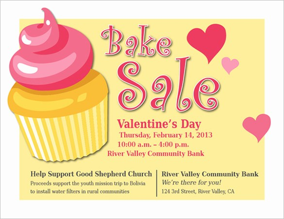Bake Sale Flyer Template Free Fresh 34 Bake Sale Flyer Templates Free Psd Indesign Ai