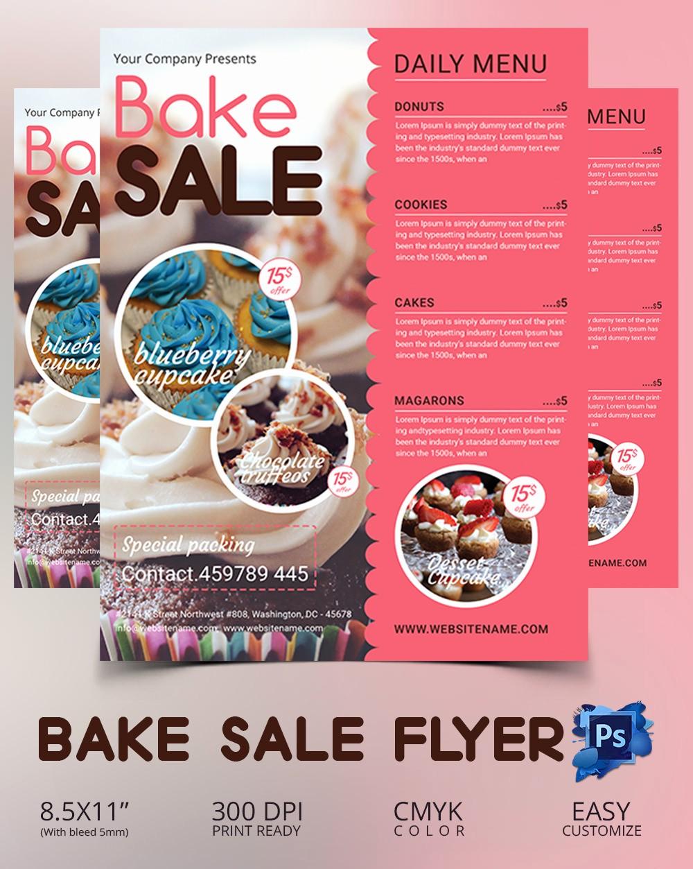 Bake Sale Flyer Template Free Fresh Design Templates Flyer Bake Sale Template Business