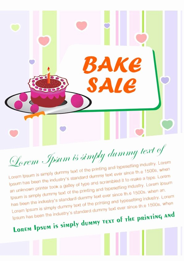 Bake Sale Flyer Template Free Fresh Engaging Free Bake Sale Flyer Templates for Fundraising