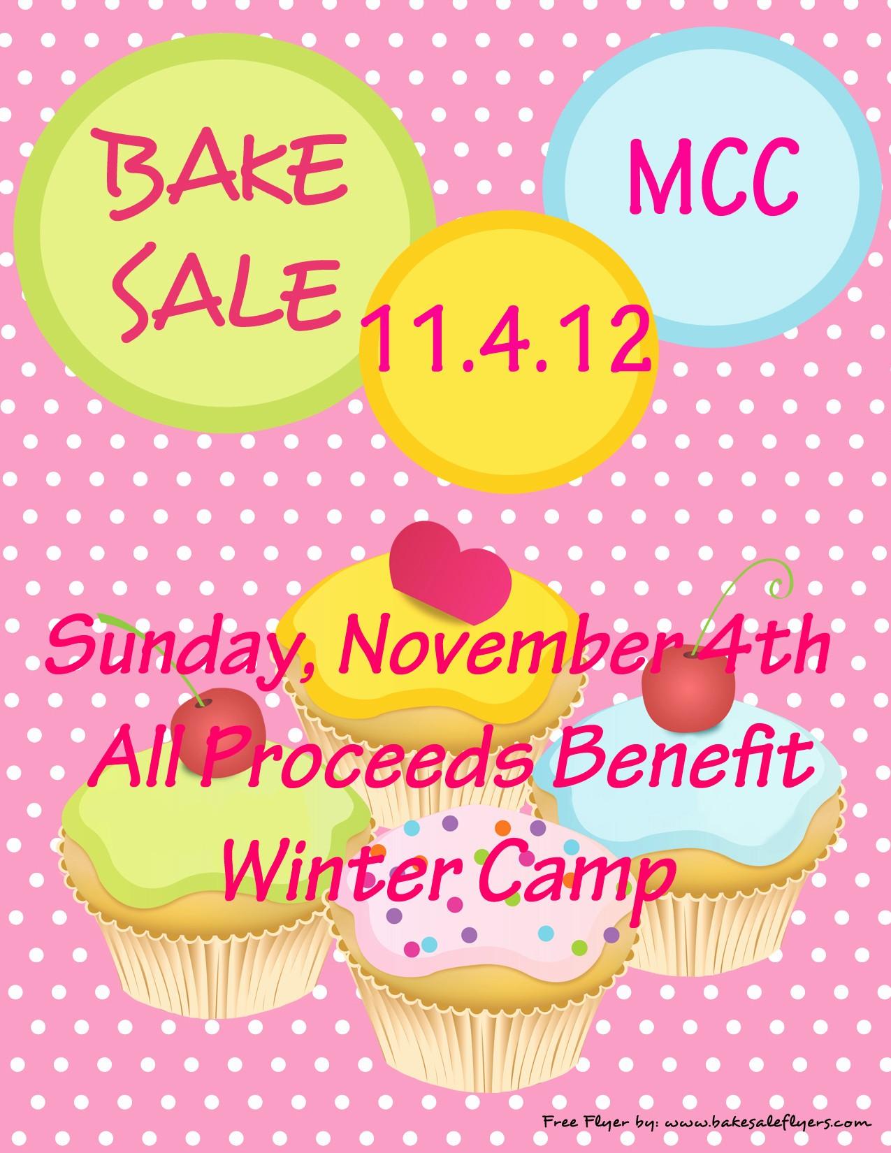 printable bake sale