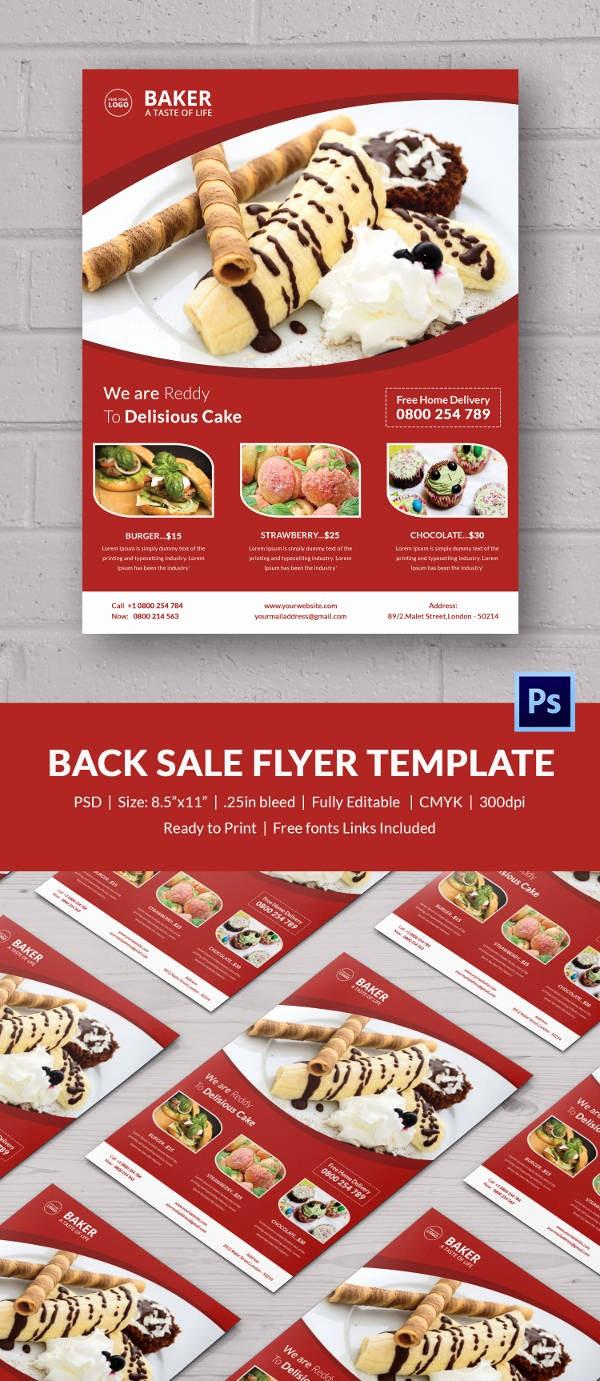 Bake Sale Flyer Template Free Inspirational Bake Sale Flyer Template 34 Free Psd Indesign Ai