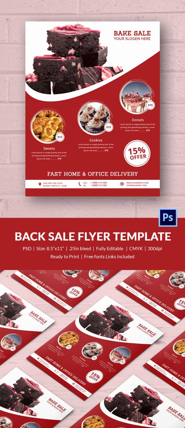 Bake Sale Flyer Template Free Luxury Bake Sale Flyer Template 34 Free Psd Indesign Ai