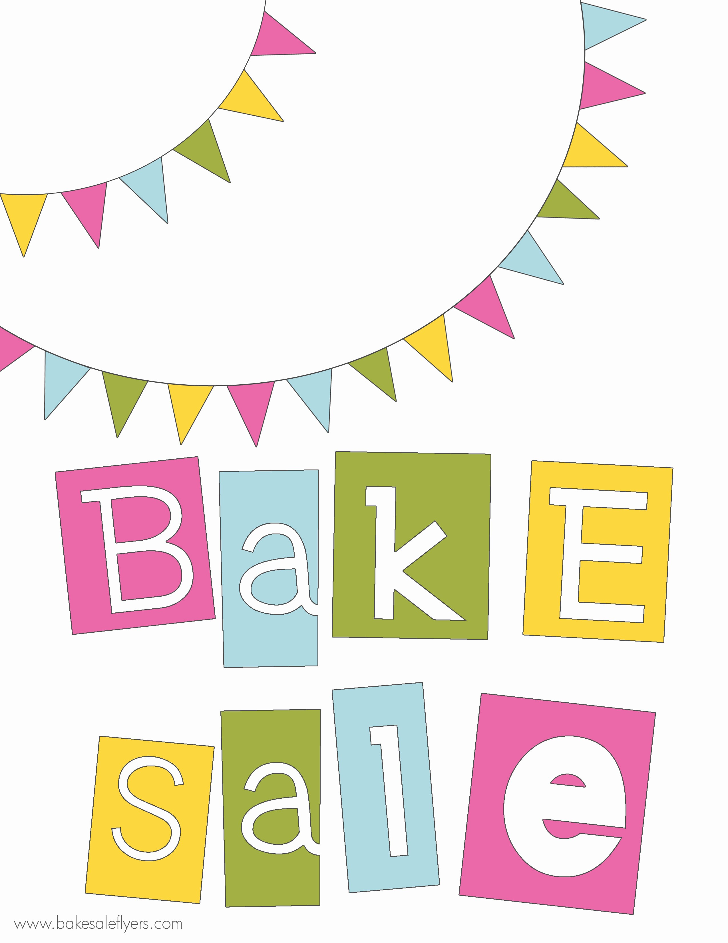 Bake Sale Flyer Template Free Luxury Free Printable Banner and Bake Sale Flyer