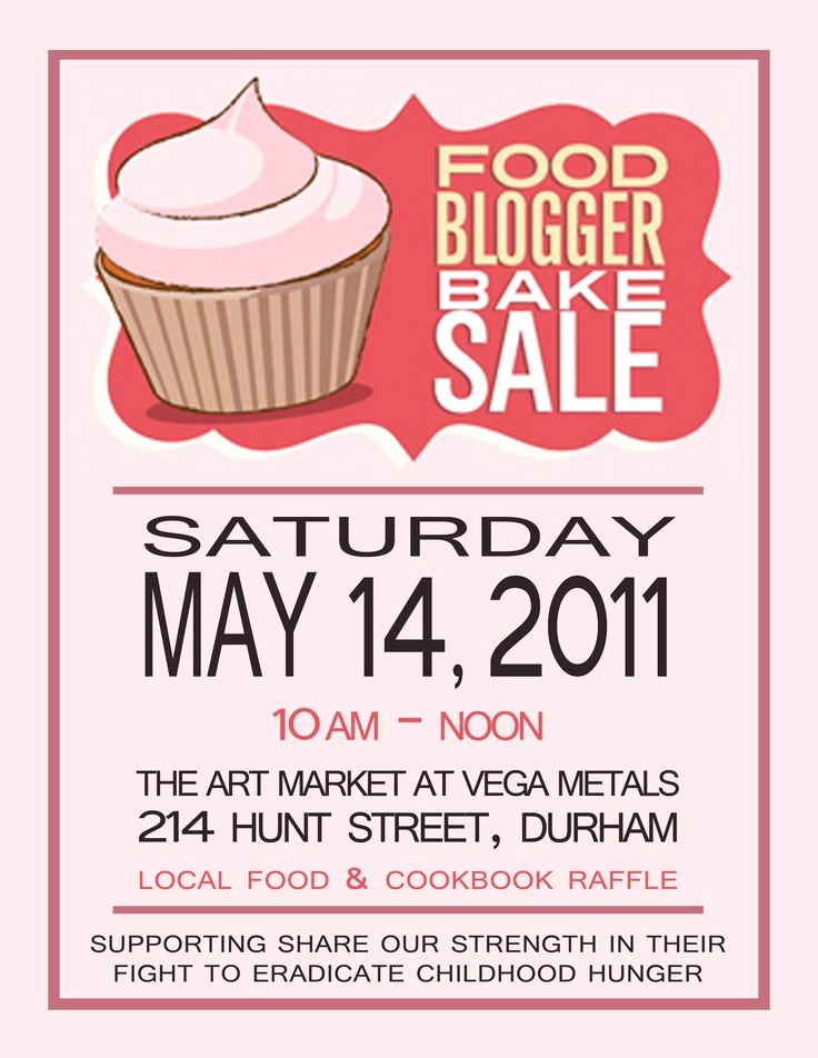 Bake Sale Flyer Template Free New 17 Best Images About Bake Sale Poster Ideas On Pinterest