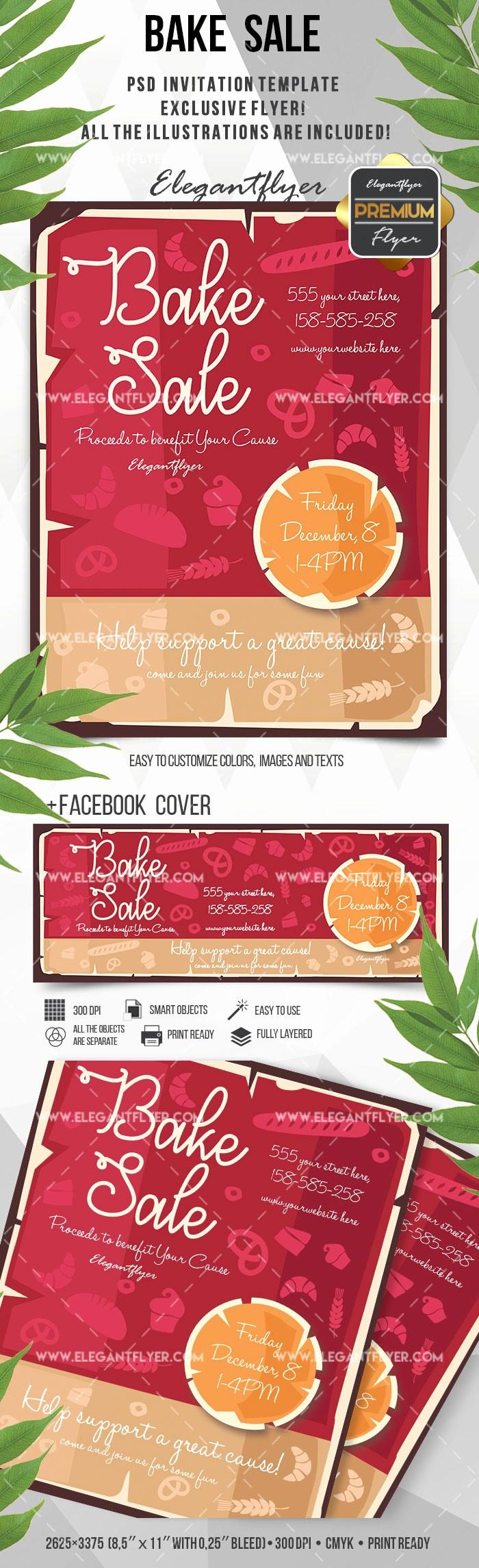 Bake Sale Flyer Template Free Unique Bake Sale Poster – by Elegantflyer