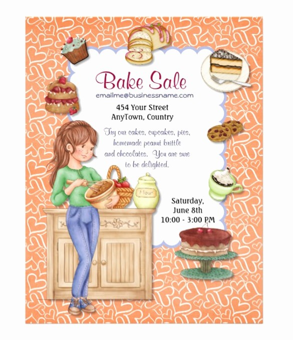 Bake Sale Flyer Template Microsoft Awesome 34 Bake Sale Flyer Templates Free Psd Indesign Ai