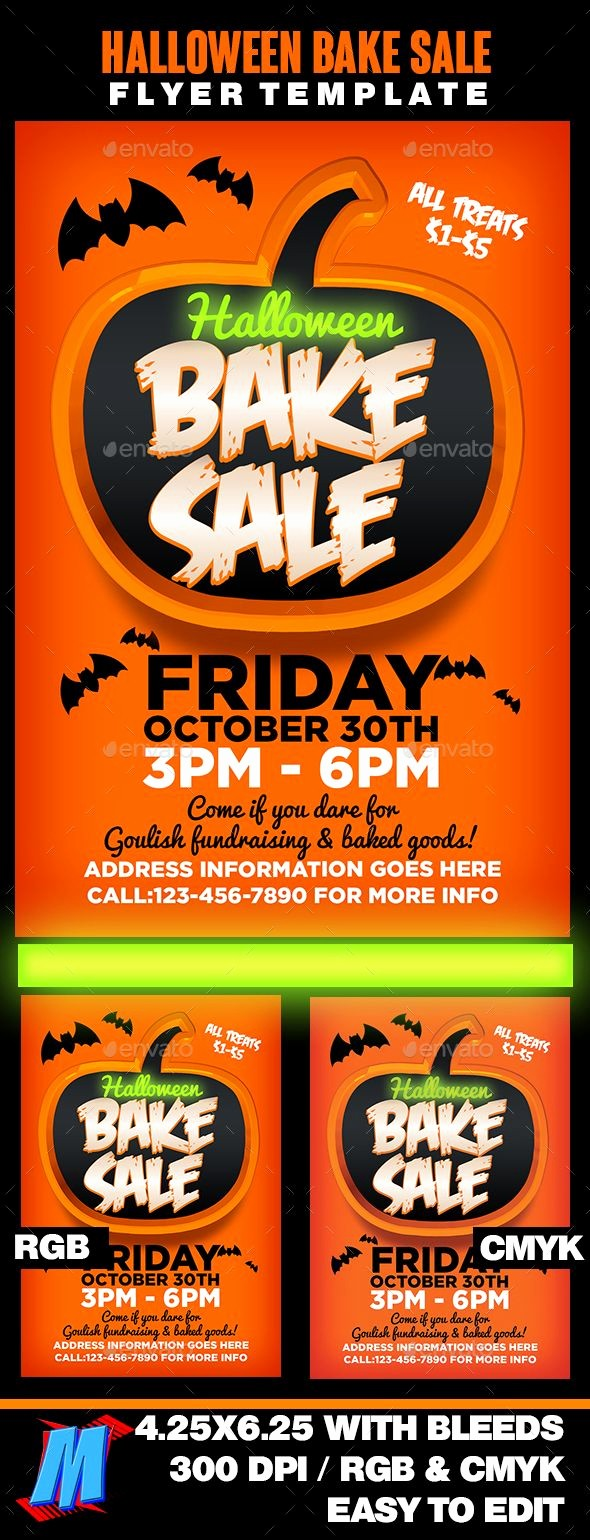 Bake Sale Flyer Template Microsoft Awesome Halloween Bake Sale Flyer Template