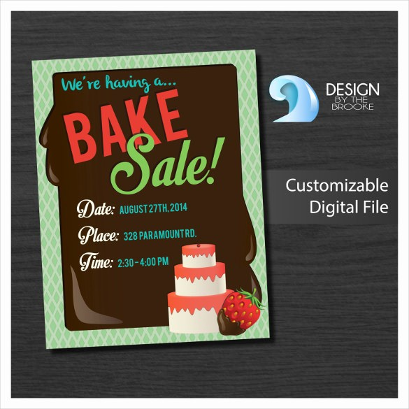 Bake Sale Flyer Template Microsoft Beautiful 34 Bake Sale Flyer Templates Free Psd Indesign Ai