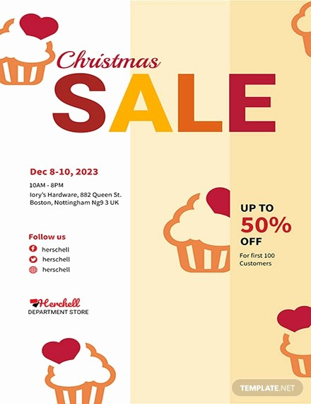 Bake Sale Flyer Template Microsoft Beautiful 78 Christmas Flyer Templates Psd Ai Illustrator Word