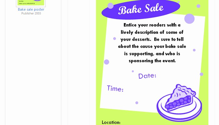 Bake Sale Flyer Template Microsoft Elegant 5 Free Bake Sale Flyer Templates