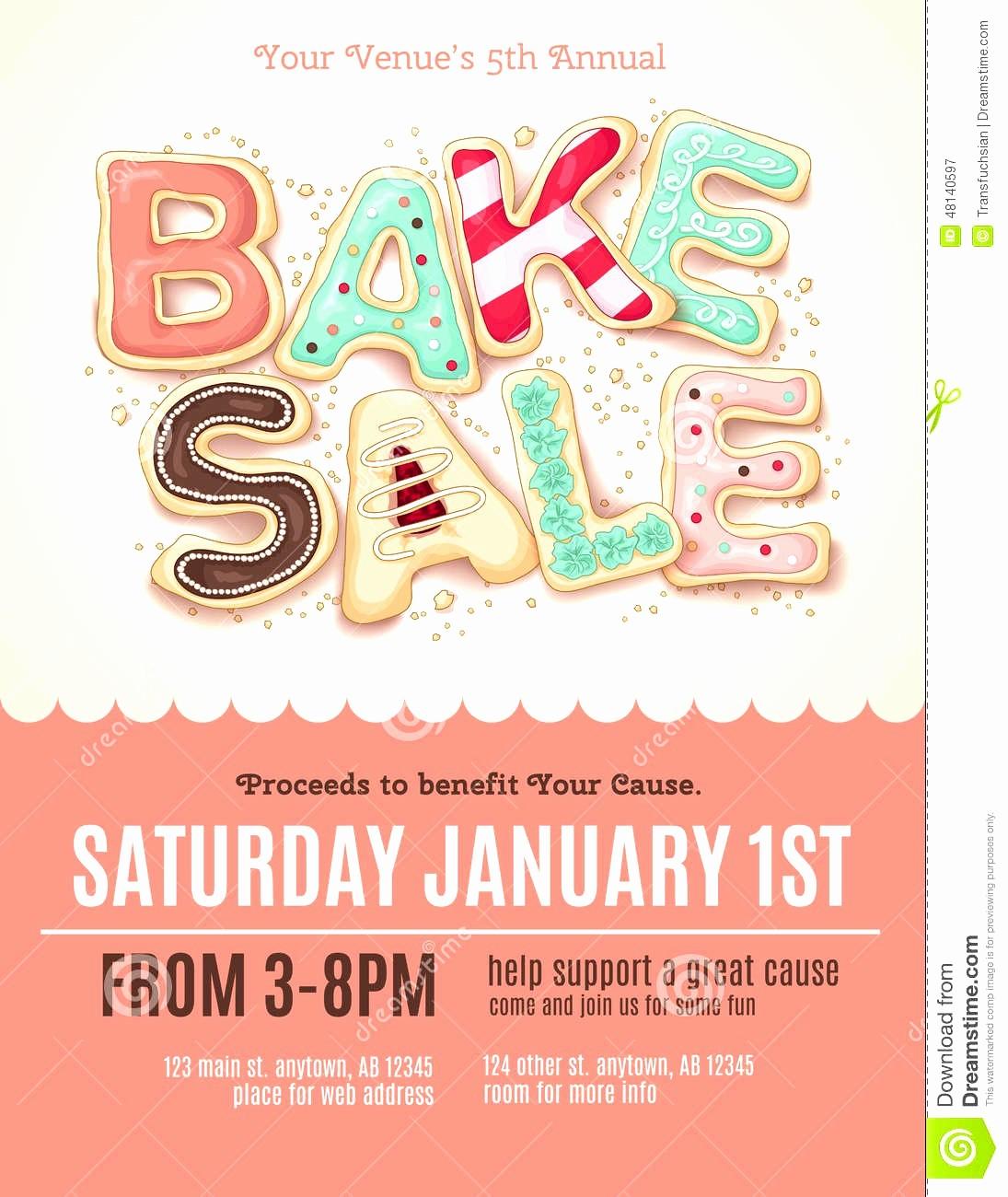 Bake Sale Flyer Template Microsoft Elegant Microsoft Word Flyer Template Free Brochure for Design