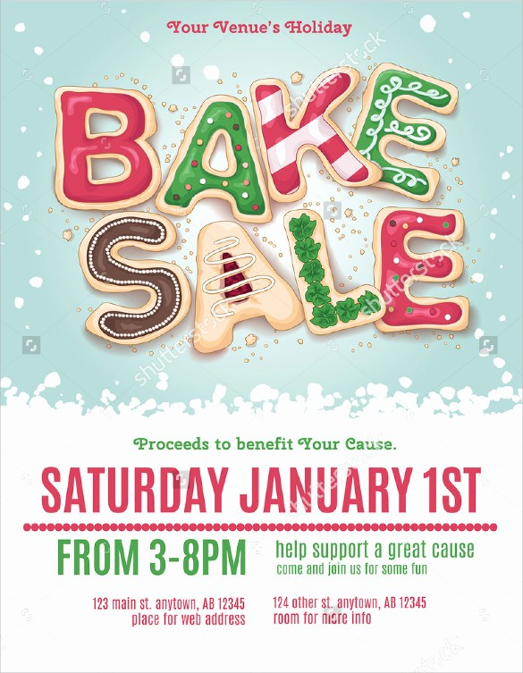 Bake Sale Flyer Template Microsoft Lovely 20 Bake Sale Flyer Templates