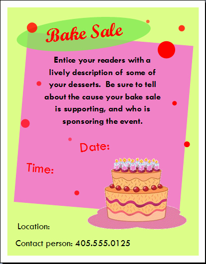 Bake Sale Flyer Template Microsoft Luxury 10 Best Of Basic Flyer Word Basic Pranic Healing