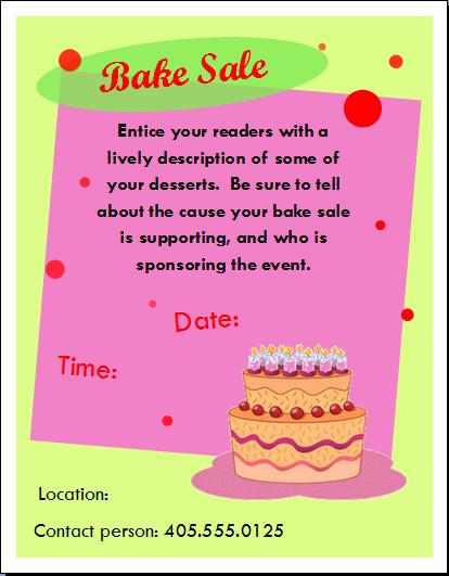 Bake Sale Flyer Template Microsoft Luxury 10 Best Of Basic Flyer Word Basic Pranic Healing
