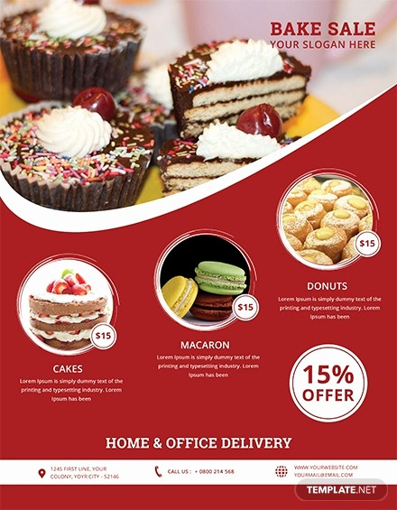 Bake Sale Flyer Template Microsoft Luxury Free Half Page Flyer Template In Adobe Shop