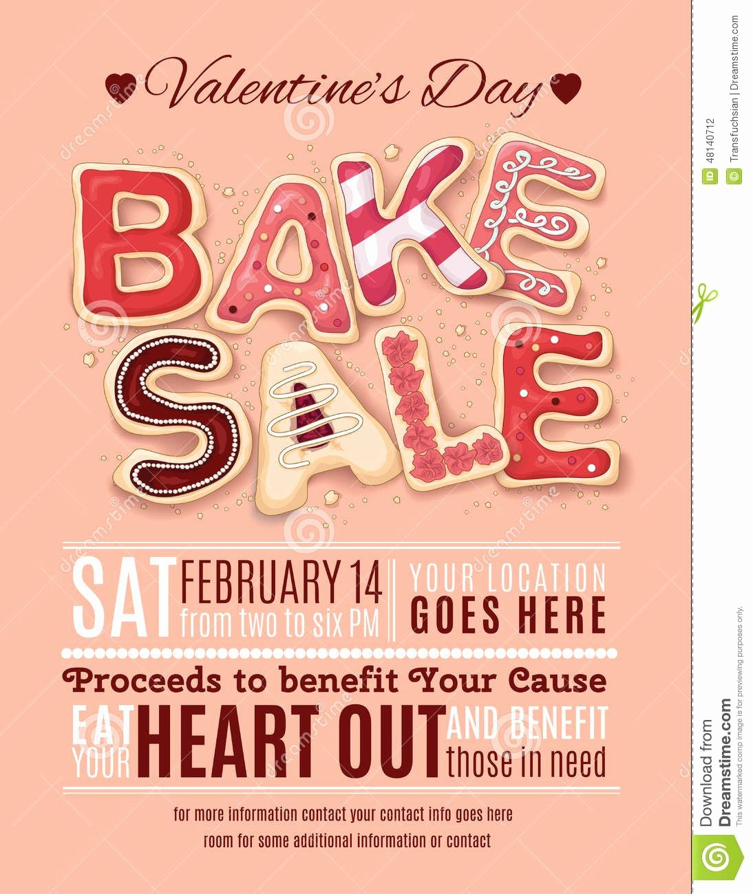 Bake Sale Flyer Template Microsoft Luxury Valentines Day Bake Sale Flyer Template Download From