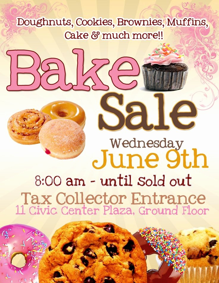 Bake Sale Flyer Template Microsoft New 17 Best Bake Sale Poster Ideas Images On Pinterest