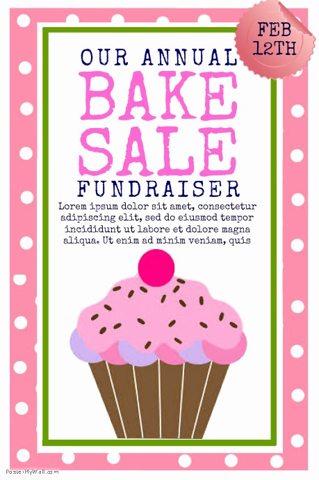 Bake Sale Flyer Template Microsoft New Bake Sale Template