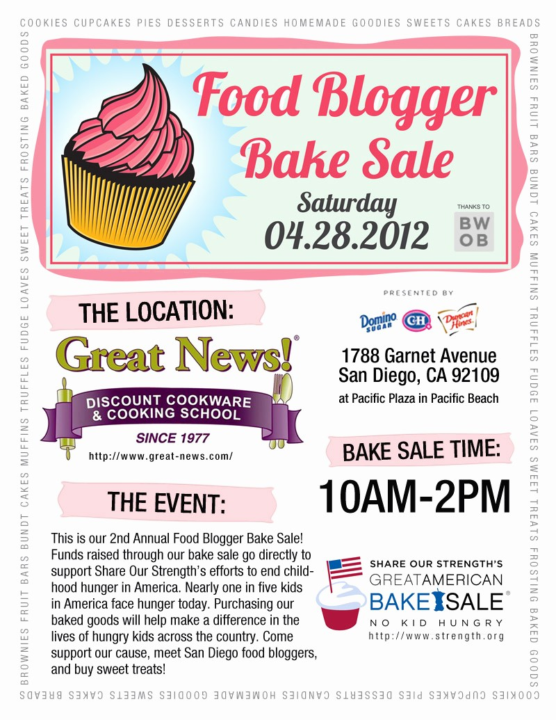Bake Sale Flyer Template Word Awesome A Fine Kettle Of ish