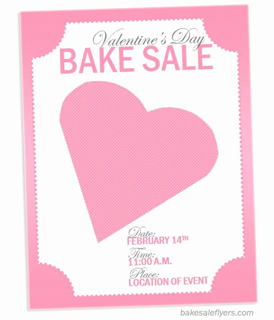Bake Sale Flyer Template Word Beautiful Valentine S Flyer for Bake Sale