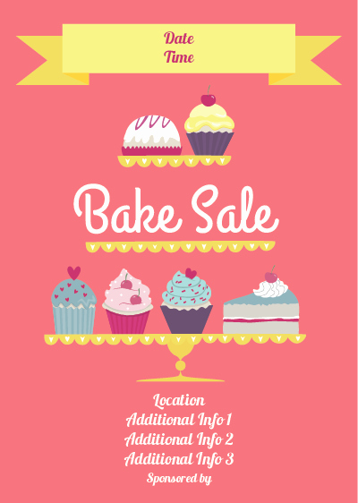 Bake Sale Flyer Template Word Best Of Show Details for Bake Sale Poster 2