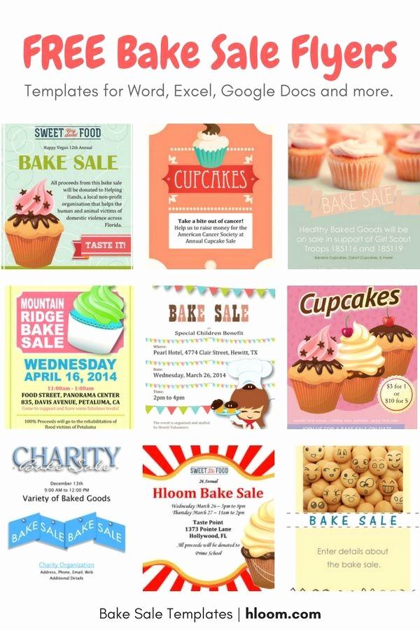 Bake Sale Flyer Template Word Elegant 22 Best Bake Sale Flyers Images On Pinterest
