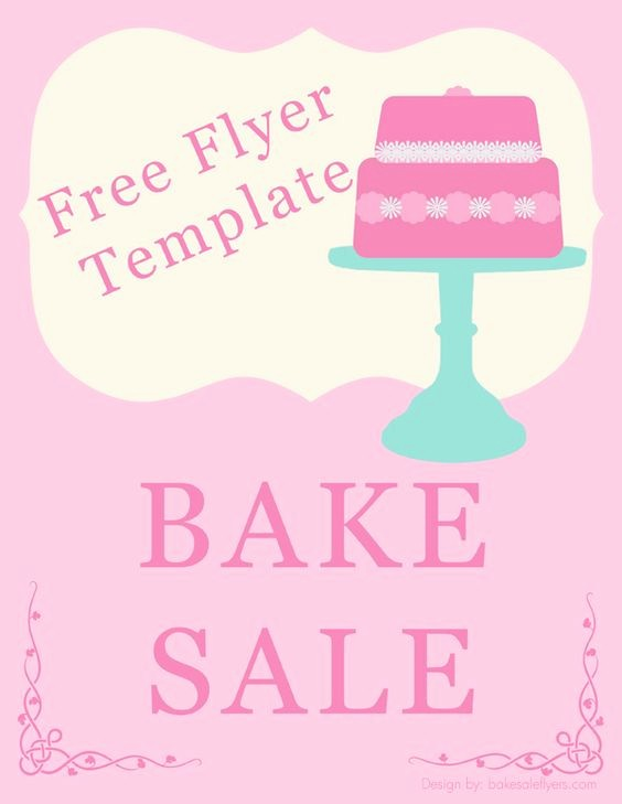 Bake Sale Flyer Template Word Elegant Bake Sale Flyer Template