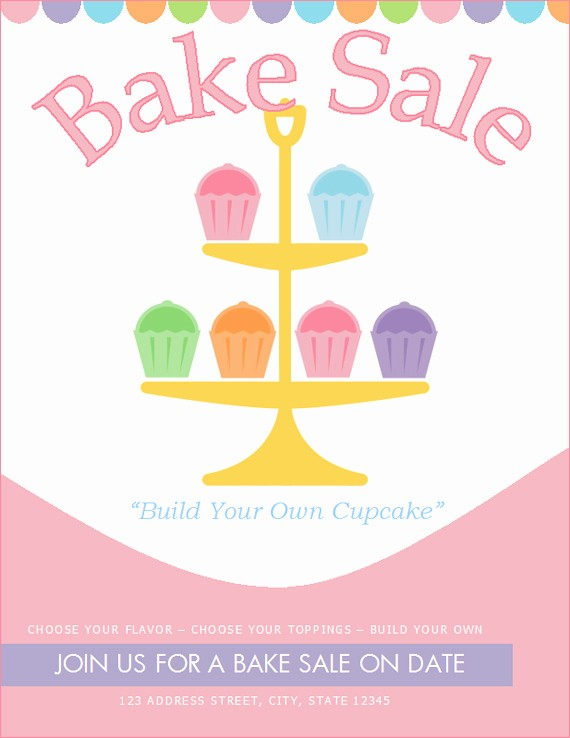 Bake Sale Flyer Template Word Fresh Bake Sale Flyers – Free Flyer Designs