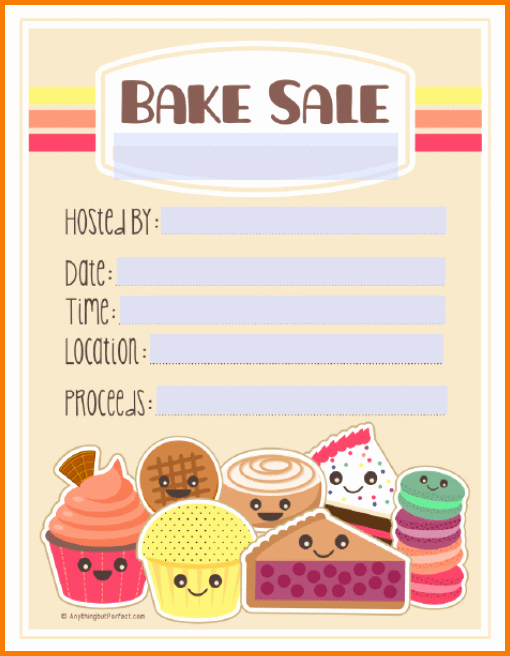 Bake Sale Flyer Template Word Inspirational Bake Sale Flyers