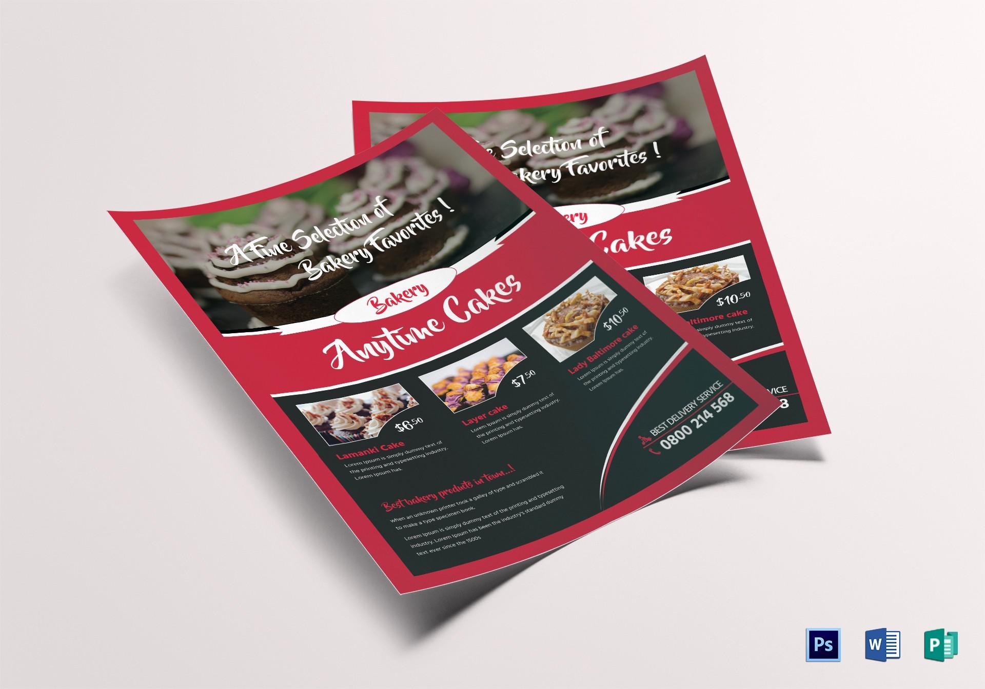 Bake Sale Flyer Template Word Lovely Customizable Bake Sale Flyer Design Template In Psd Word