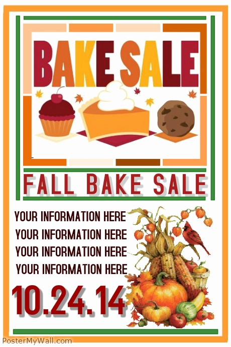 Bake Sale Flyer Template Word Luxury Fall Bake Sale Template