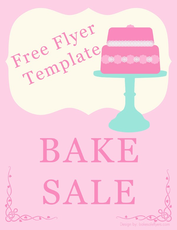 Bake Sale Flyer Template Word Luxury Free Bake Sale Flyer Template
